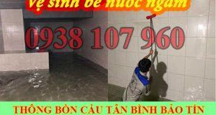 Bảng giá vệ sinh bể nước ngầm Quận Tân Bình 0938107960
