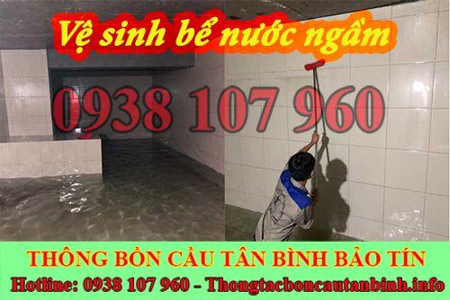 Vệ sinh bể nước ngầm quận Tân Bình với mức giá rẻ, ưu đãi