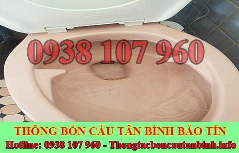Cách xử lý bồn cầu toilet dội nước không xuống Quận Tân Bình
