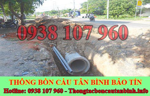 Thi công đào lắp đặt đường cống thoát nước quận Tân Bình Bảo Tín.