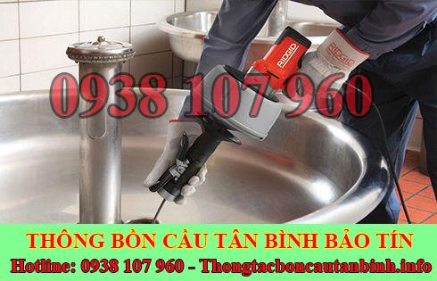 Thợ thông tắc bồn rửa mặt lavabo Quận Tân Bình 0938107960