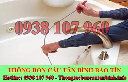 Thông tắc bồn chậu rửa chén bát Quận Tân Bình 0938107960
