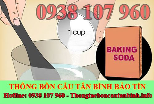 Thông bồn cầu bằng baking soda với nhiều cách đơn giản